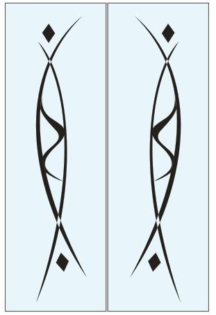Абстрактный узор из оракала 4