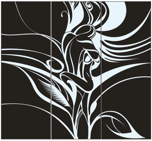 Абстрактный узор из оракала 9