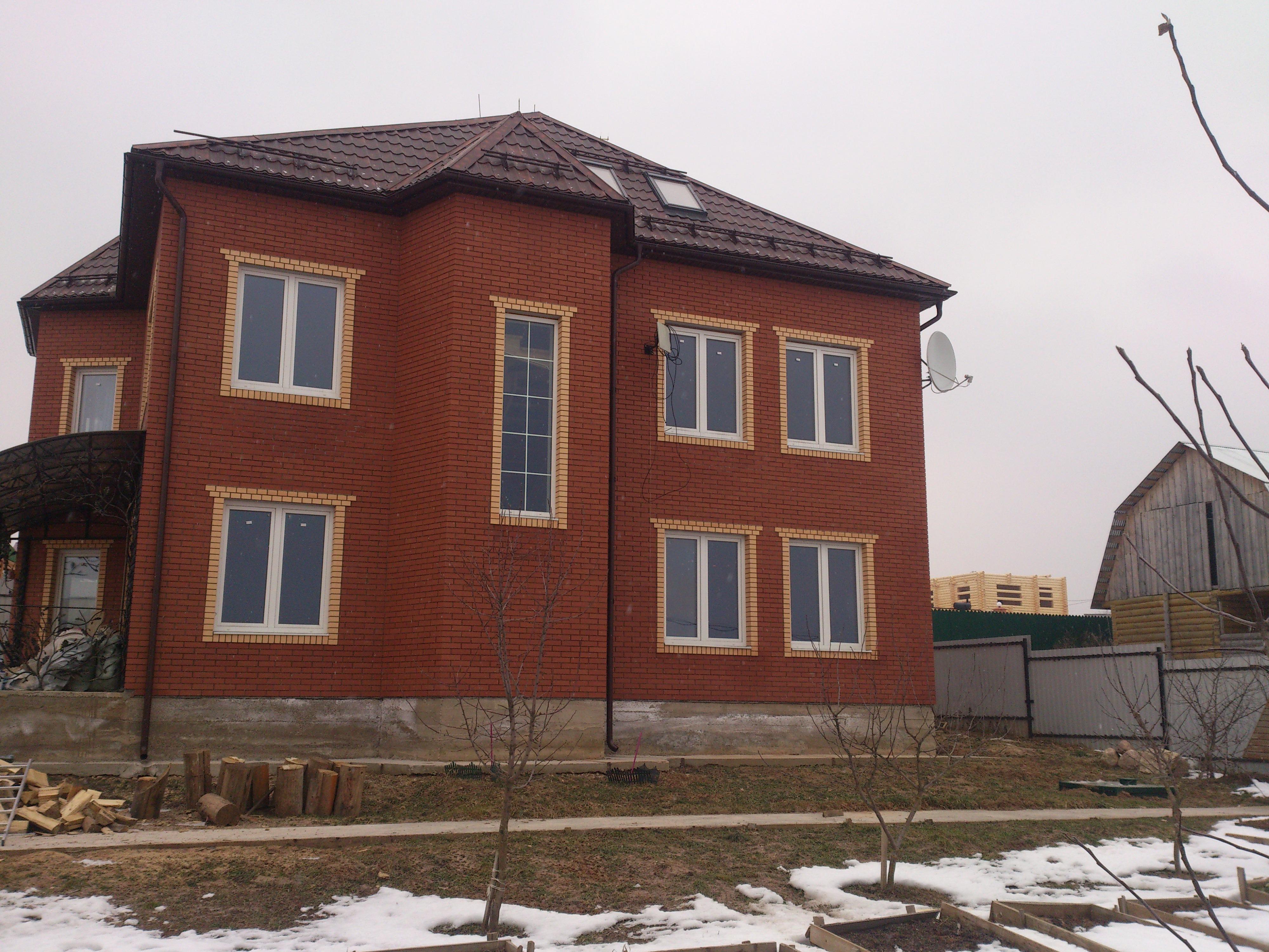 Тонирование окон загородного дома солнцезащитной плёнкой r Bronze 15