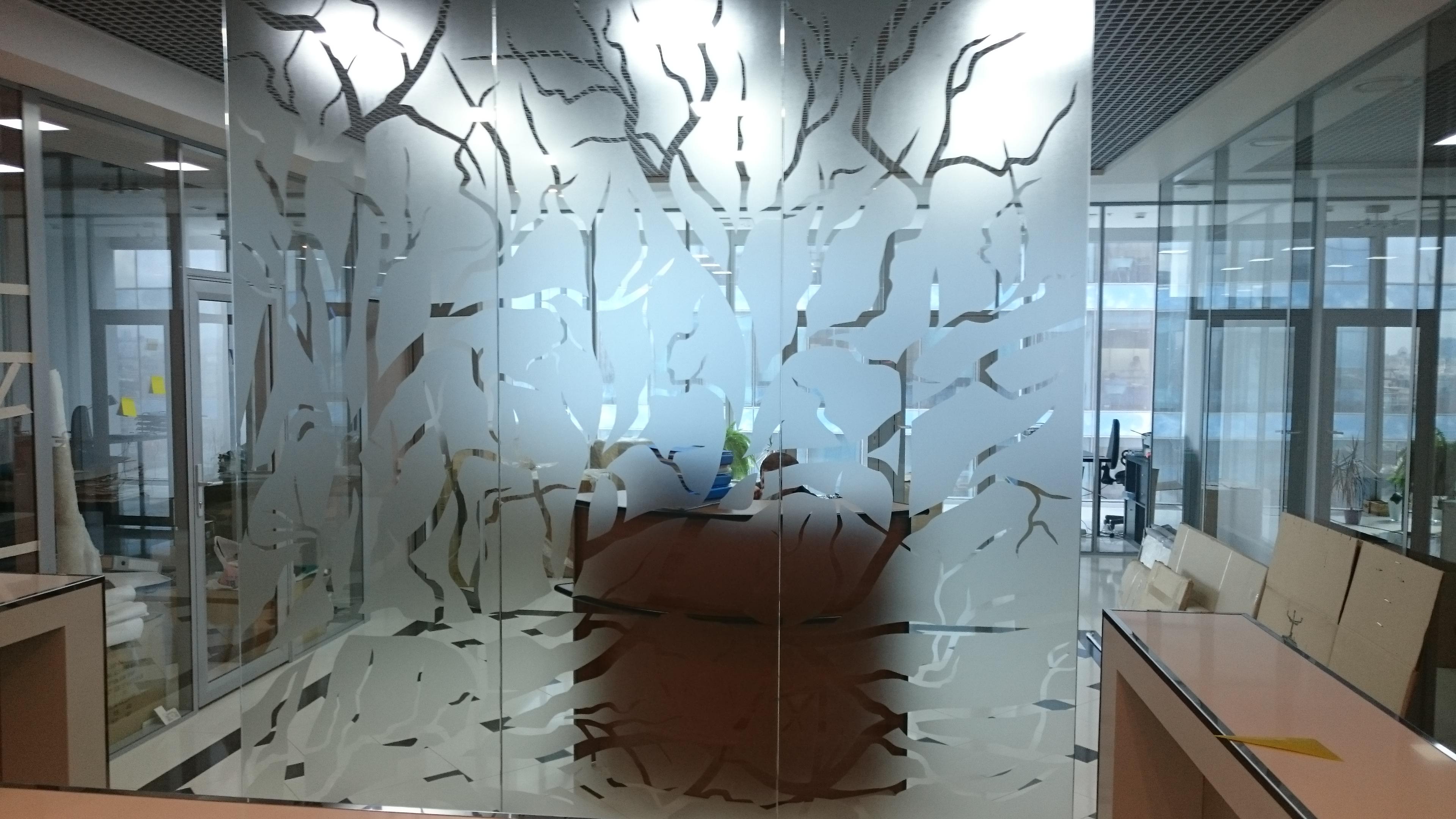 декоративное тонирование матовой плёнкой