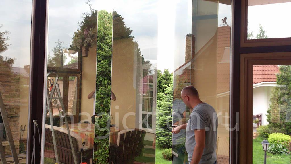 Зеркальная тонировка окон 3